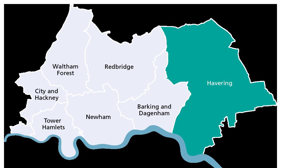 Havering borough map