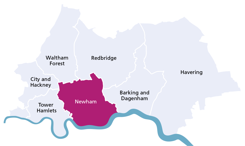 Newham borough map
