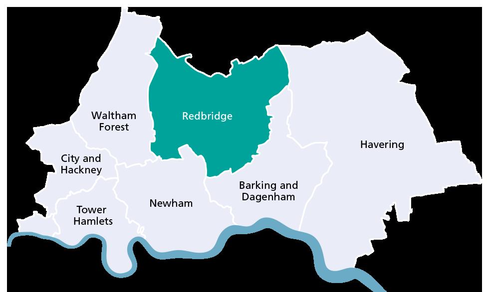 Redbridge borough map