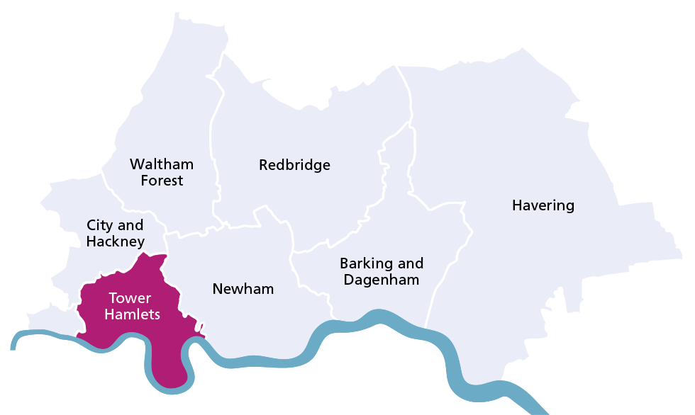 Tower Hamlets borough map