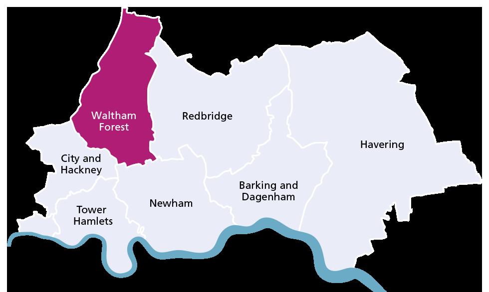 Waltham Forest borough map